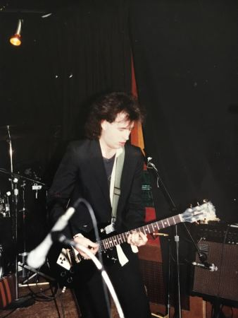 Steve gigging in black